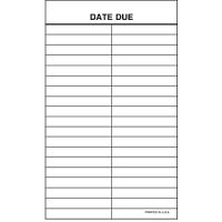 Date Due Slip 2 column- DDS/PSS/2